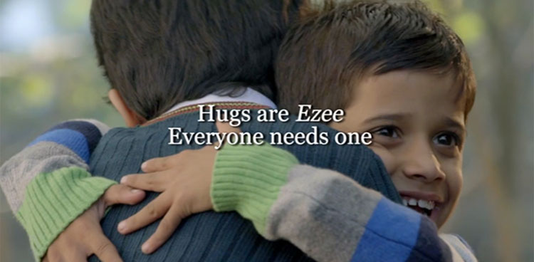 The Ad Witnesses Two Boys Who Are Trying To Evacuate The Line Of Division And Spreading The Warmth Of Hug