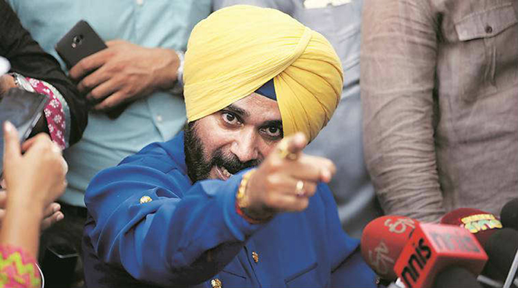 navjot singh sidhu against congress speech videos