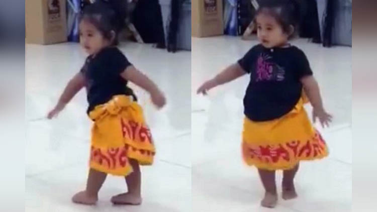cute little girl tahitian dance video