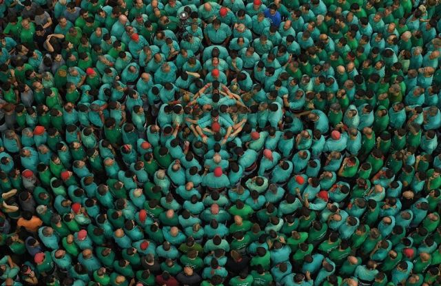 spain yearly festival human tower