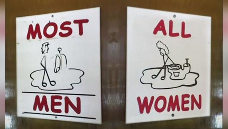 creative toilet sign boards