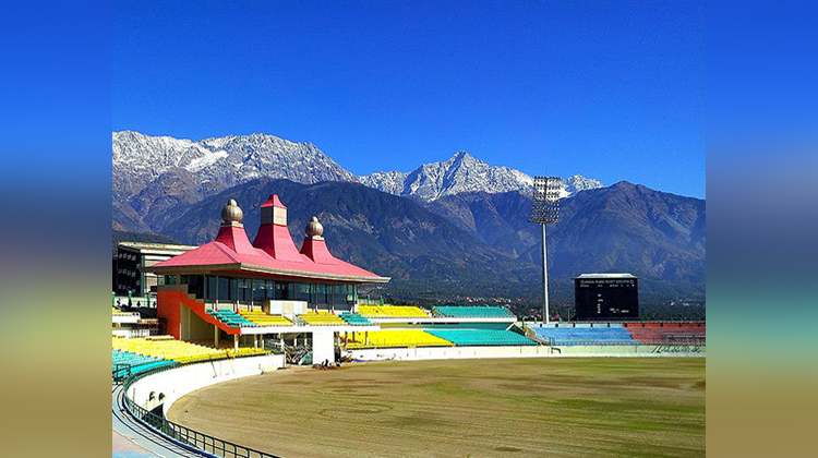 Himachal Pradesh Cricket Association Stadium beautiful pictures