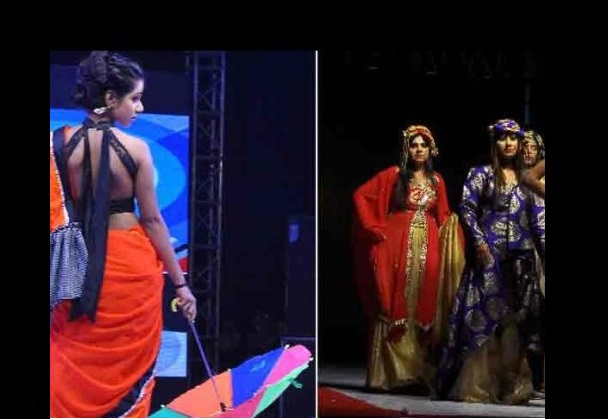 fashion show in jawaharlal nehru stadium by college girls