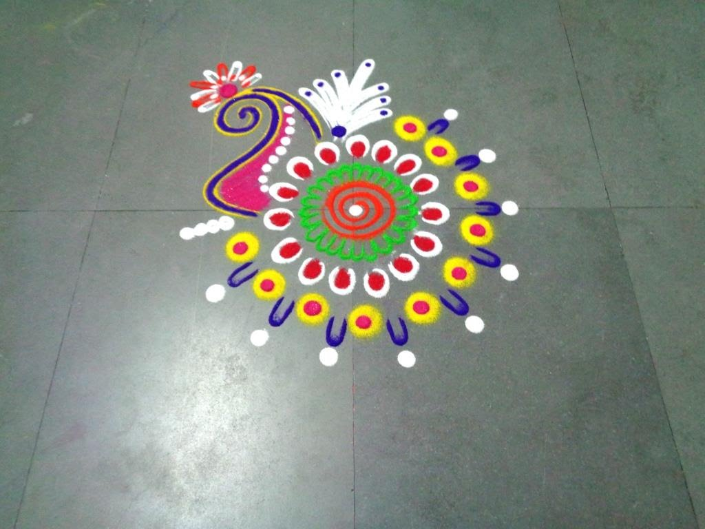 Rangoli making it the best reason behind