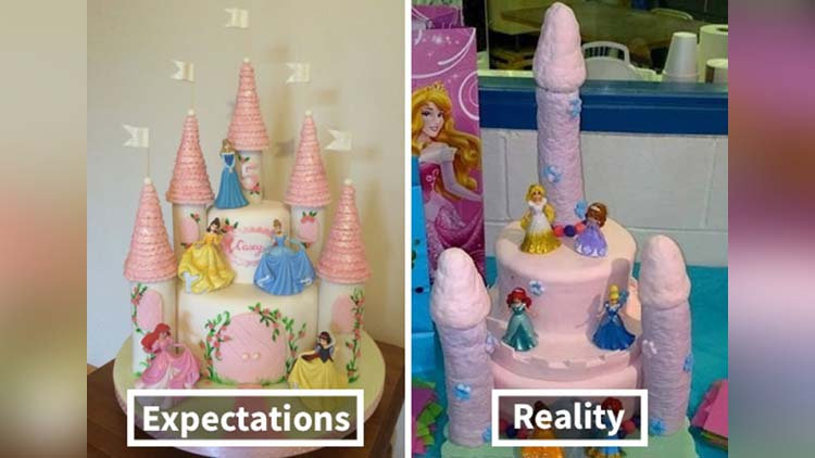 Expectations Vs Reality of Worst Cakes