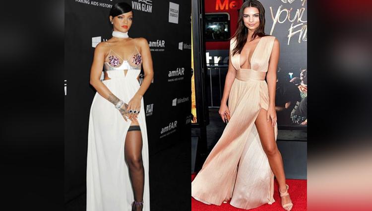 celebs favorite leg cut dress
