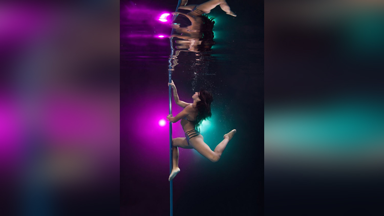 pictures of under water pole dance