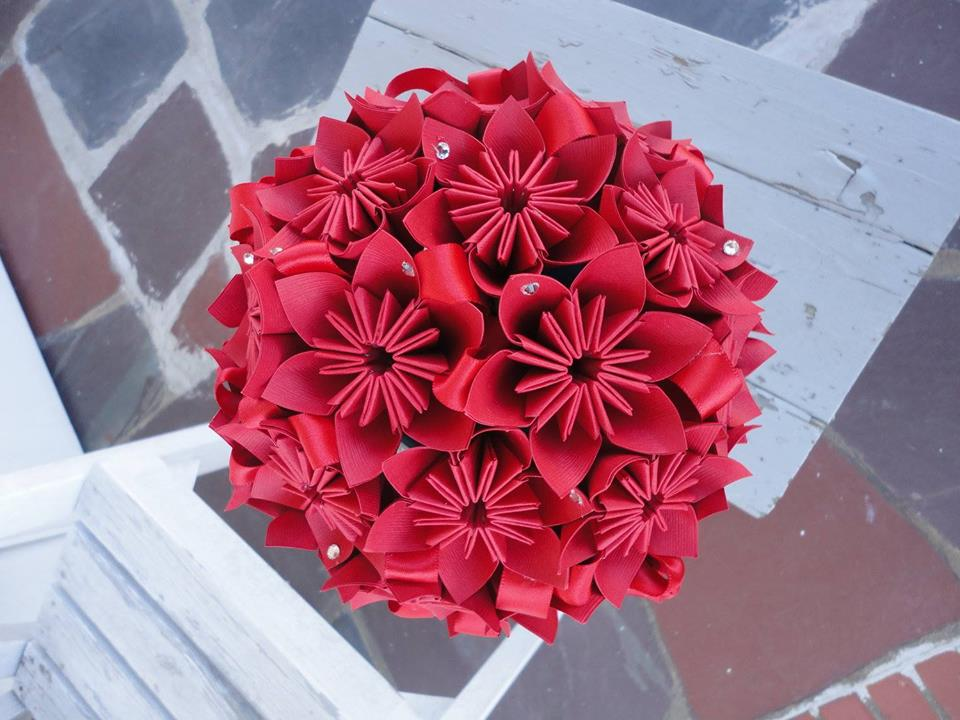 bouquets of flowers made from paper