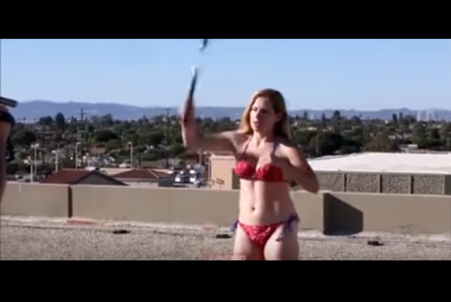 Hot Bikini Babe really regrets swinging