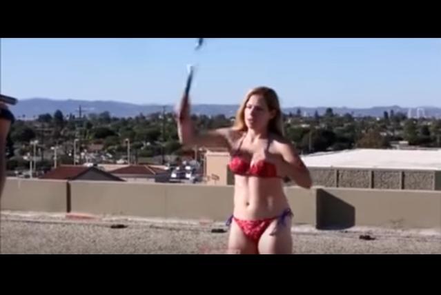Hot Bikini Babe really regrets swinging