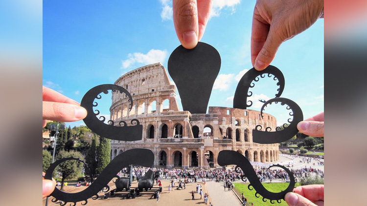 artist uses paper cuts out to turn famous landmark into art