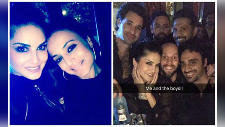 Ameesha Patel and Sunny Leone party together