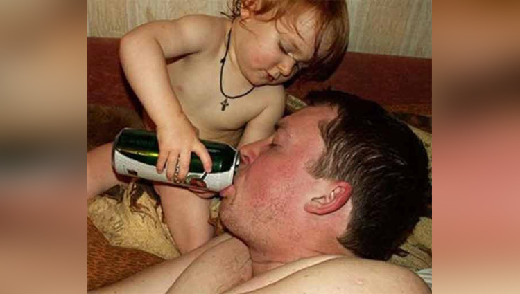 viral pictures of funny parents