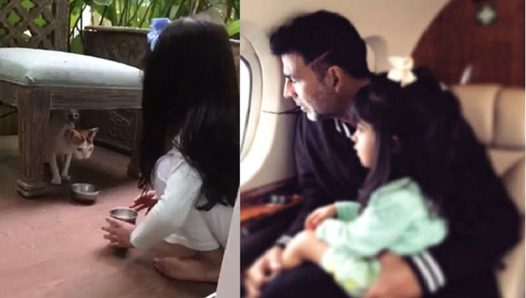 akshay kumar shares daughter nitaras video