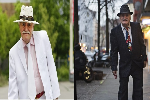 stylish man in age of 86