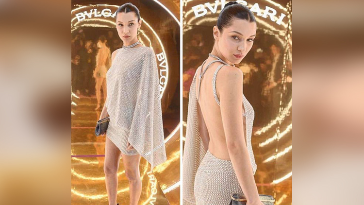 Bella Hadid at Bvlgari party in Milan