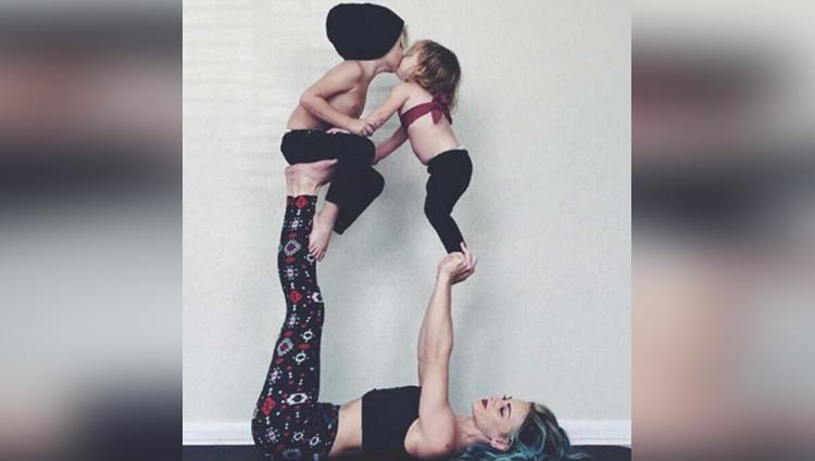 Viral Instagram Mom Uses Kids To Do Yoga poses