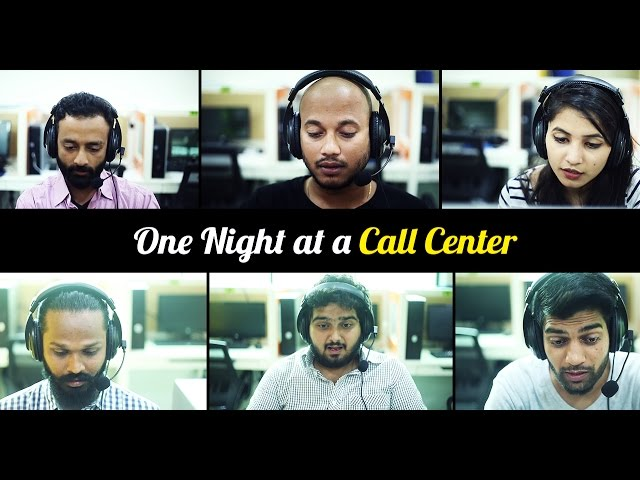 funny video one night at call center