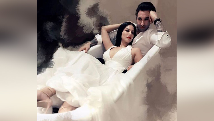 sunny leone and daniel weber bathtub photoshoot