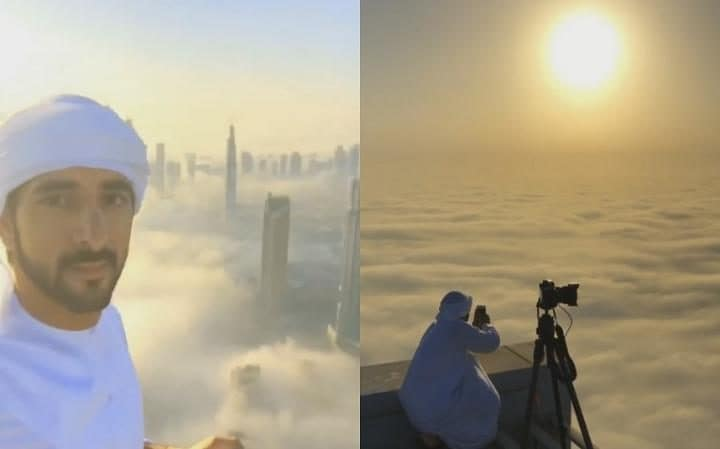 dubai prince Hamdan click the pictures of burj khalifa