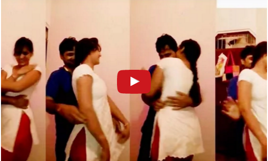 In room couple shadow on the intimate social dance video