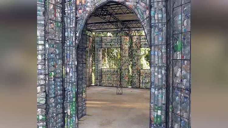 Worlds first Plastic Bottle Village to recycle over a million PET bottles