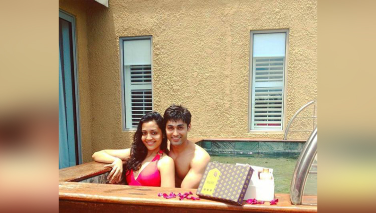 ruslaan mumtaz lip lock with his wife