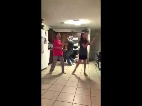 Father secretly video bombing his daughters dancing ORIGINAL