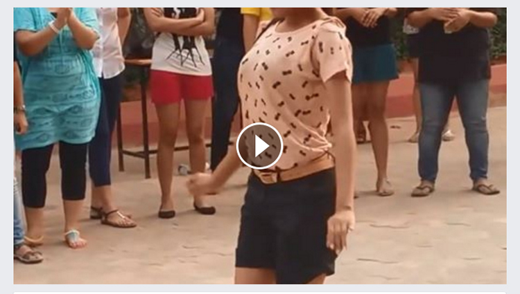 girl doing hot dance in public