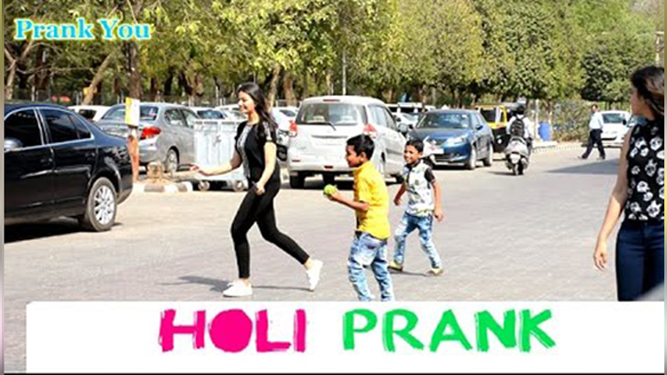 Holi Prank by Kids on hot girls