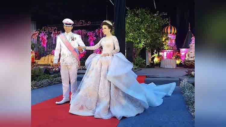 Indonesian brides fairytale wedding gown sparks a social media frenzy