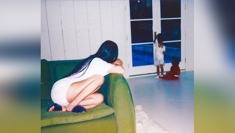 viral pictures of kim kardashian time spend with her children