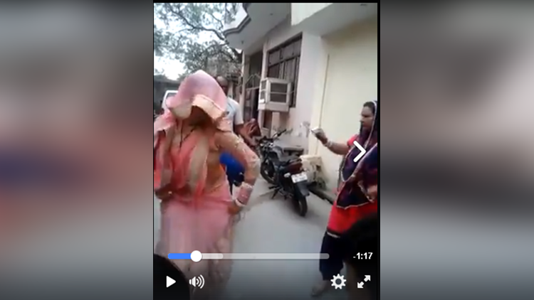 indian woman dance on wedding ceremony