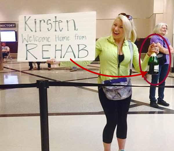 viral pictures on airport of bizarre people