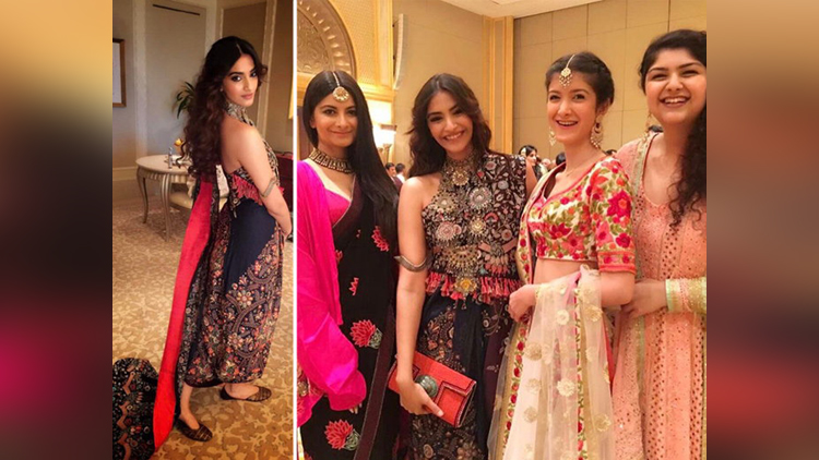 Arjun Sonam attend cousin Akshay Marwahs wedding in Abu Dhabi