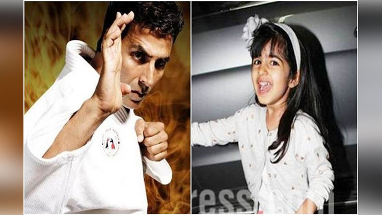 akshay kumar share her daughters cute video