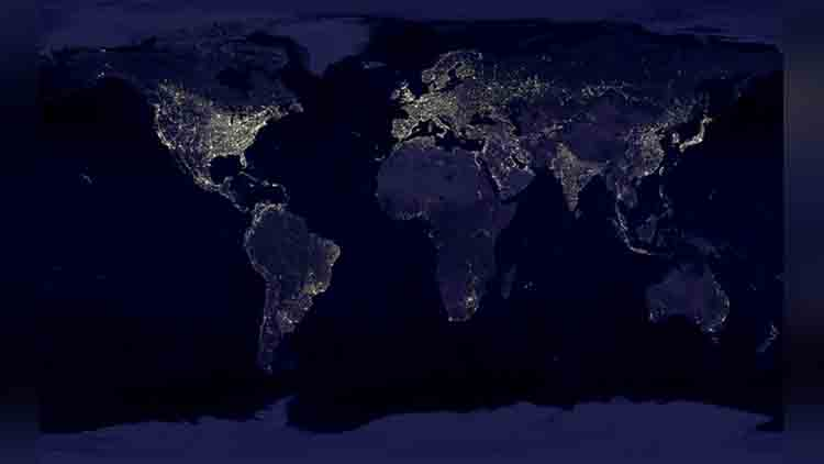 satellite night lights images of india