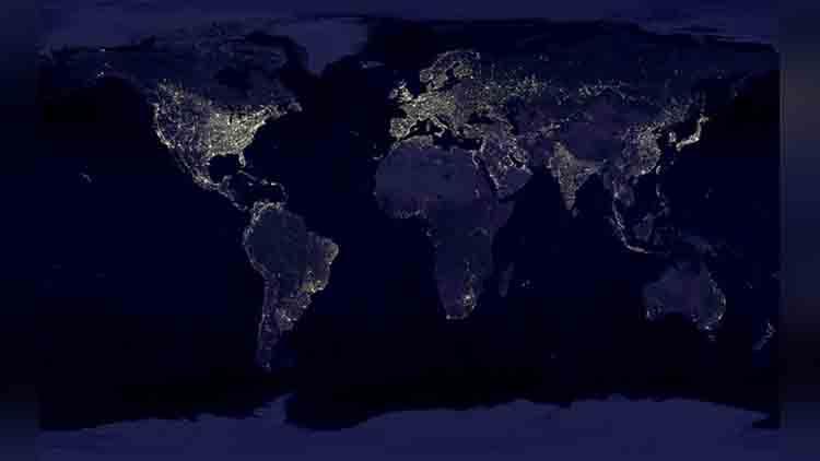 satellite night lights images of india