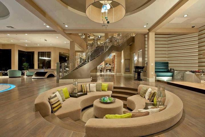 This unique home offers a very beautiful stairs