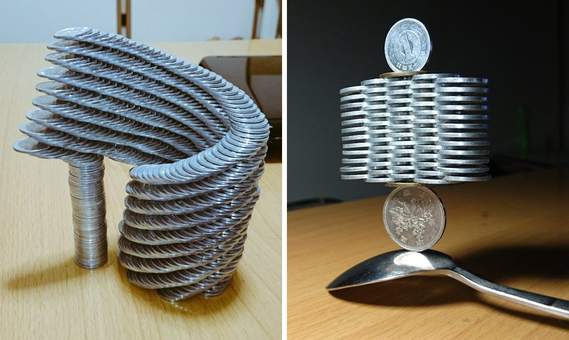Japanese guy took Coin Stacking