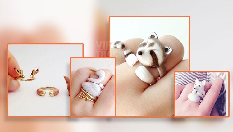 Adorable Animal Finger Rings for Animal Lovers.
