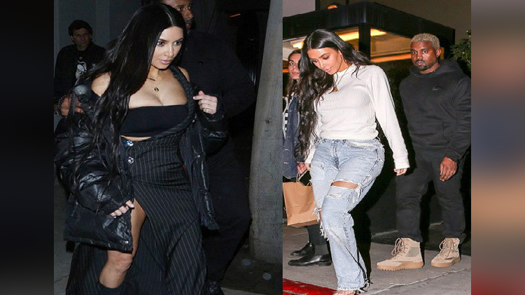 Kim Kardashian enjoy dinner in Los Angeles