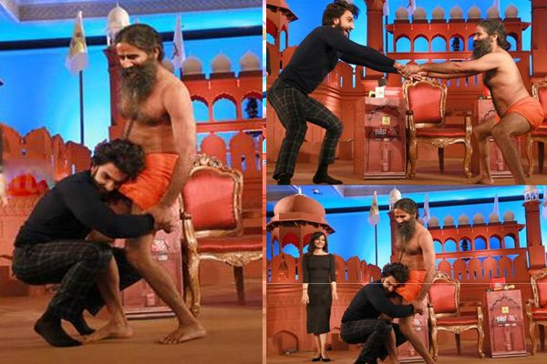 viral video of ranveer singh and baba ramdev dance