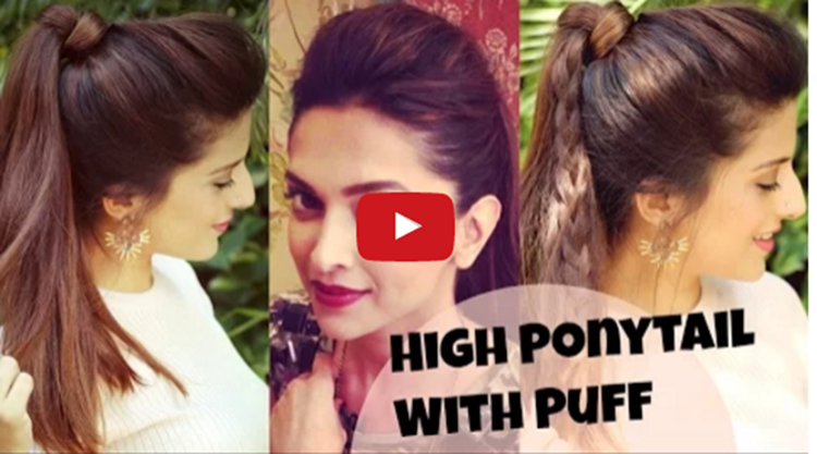 3 EASY Everyday High Ponytail Hairstyles With Puff