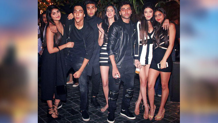 shahrukh's daughter suhana khan in new year party