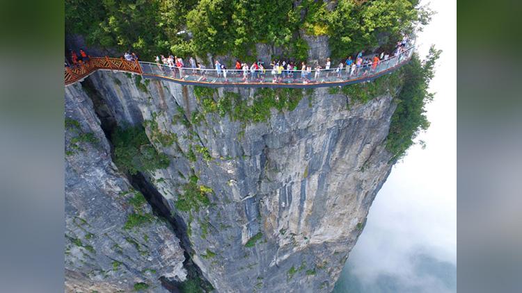 glass walkway opens in china