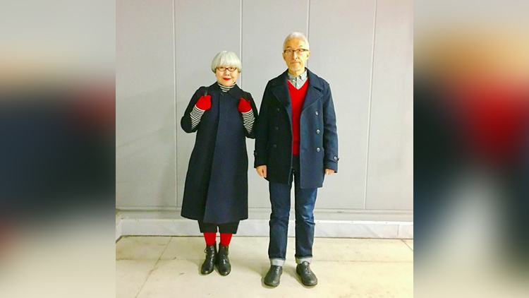 Japanese couple married for 37 years wear matching outfits every day