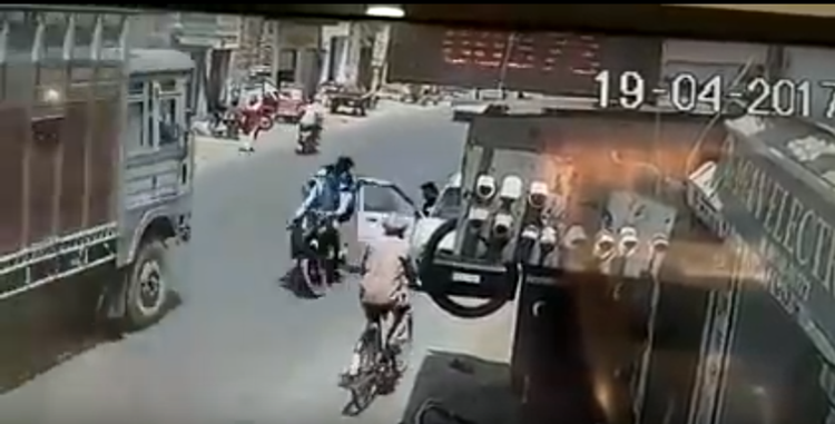suddenly accident video gone viral on youtube