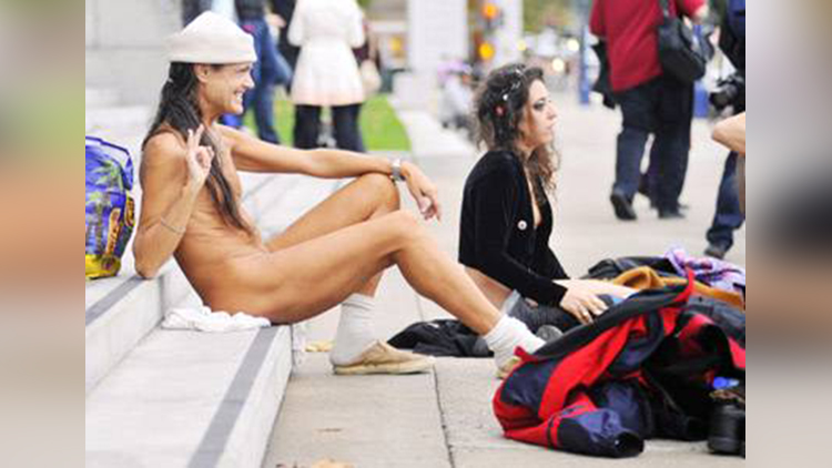 San Francisco people nude for stopping Nudity Ban