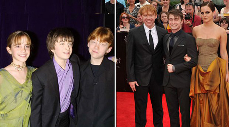 harry potter starcast then and now photos